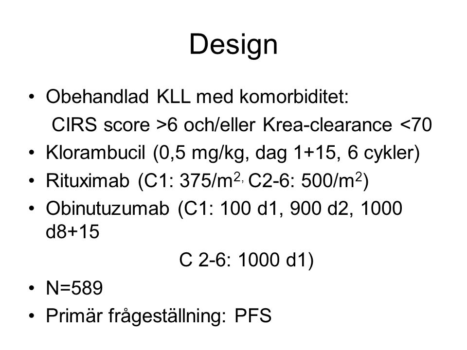 Design Obehandlad KLL med komorbiditet: