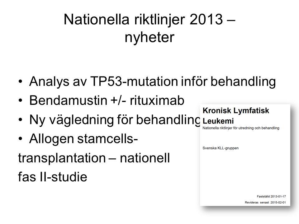 Nationella riktlinjer 2013 – nyheter
