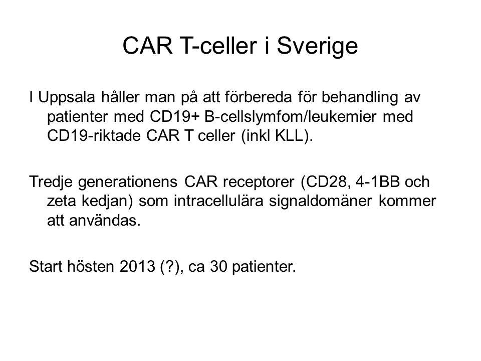 CAR T-celler i Sverige