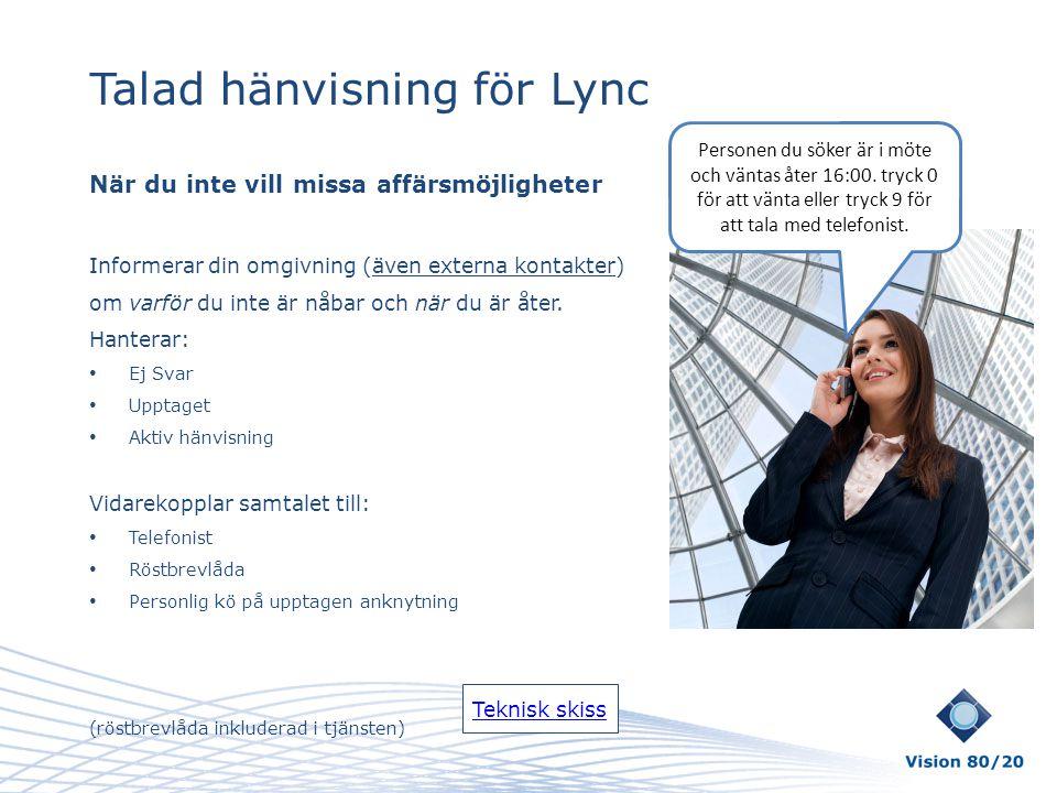 Talad hänvisning för Lync