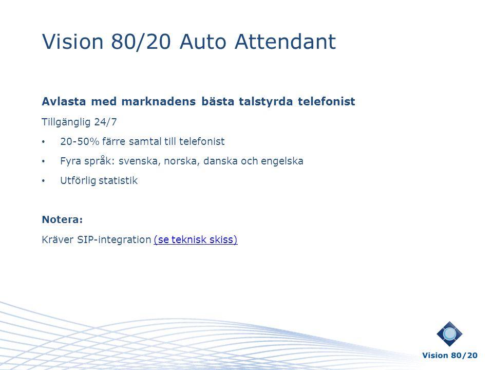 Vision 80/20 Auto Attendant