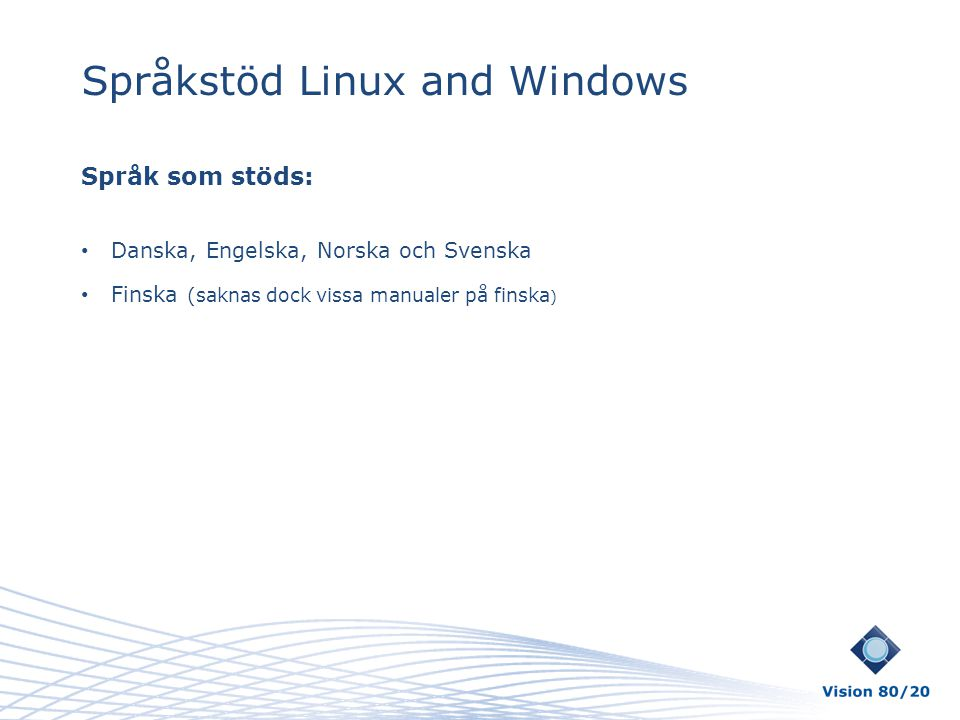 Språkstöd Linux and Windows