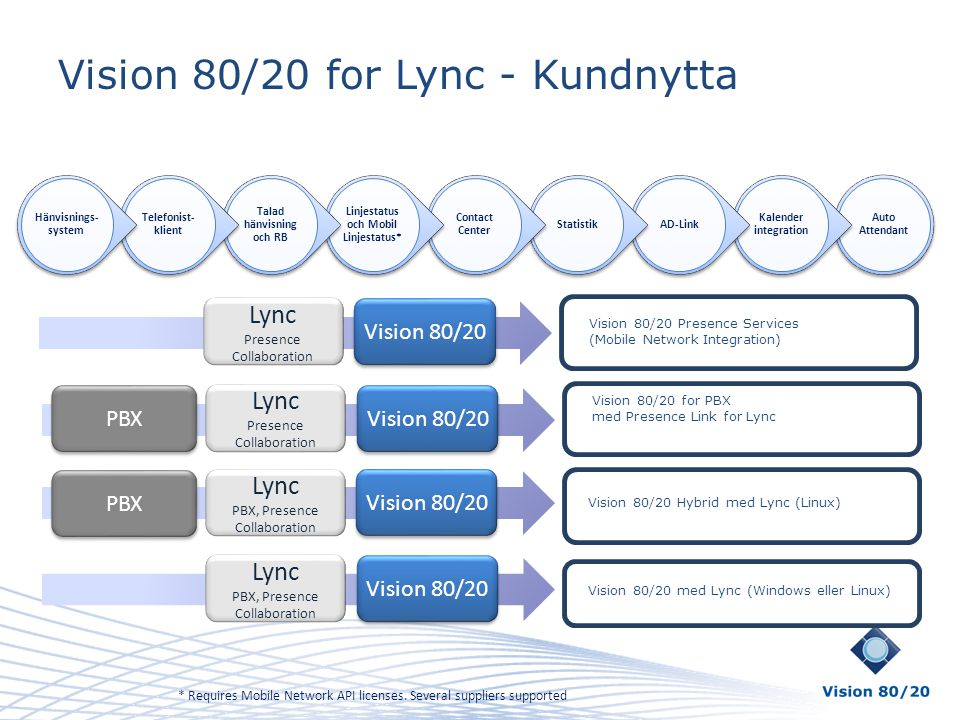 Vision 80/20 for Lync - Kundnytta