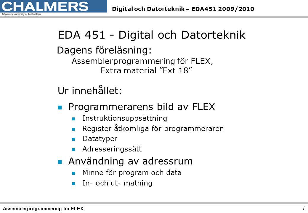 EDA 451 - Digital och Datorteknik