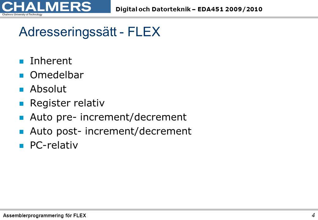 Adresseringssätt - FLEX