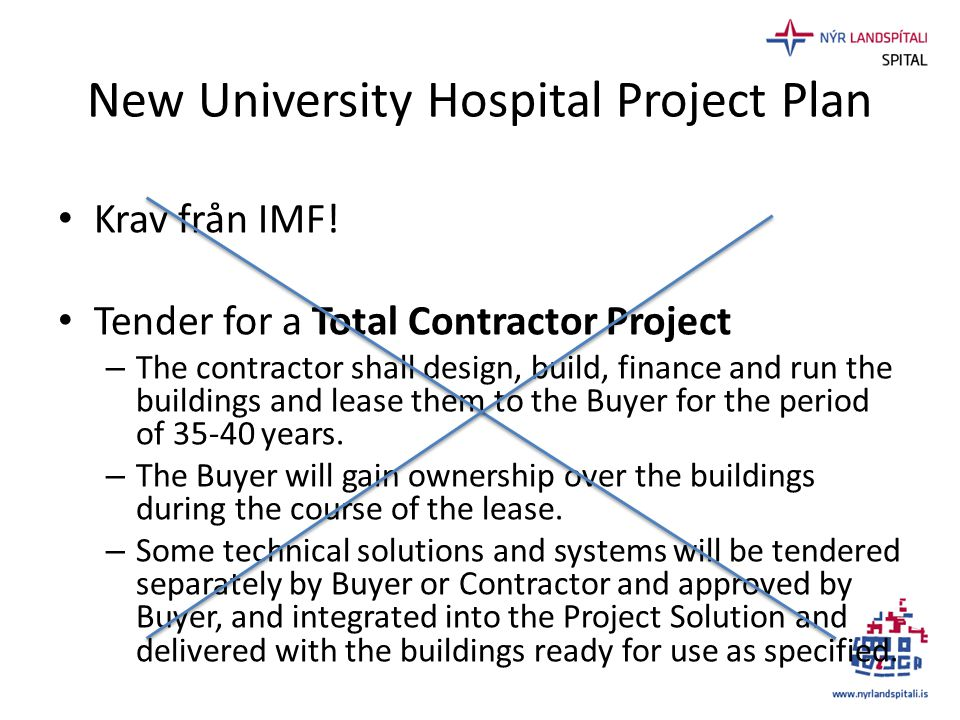 New University Hospital Project Plan