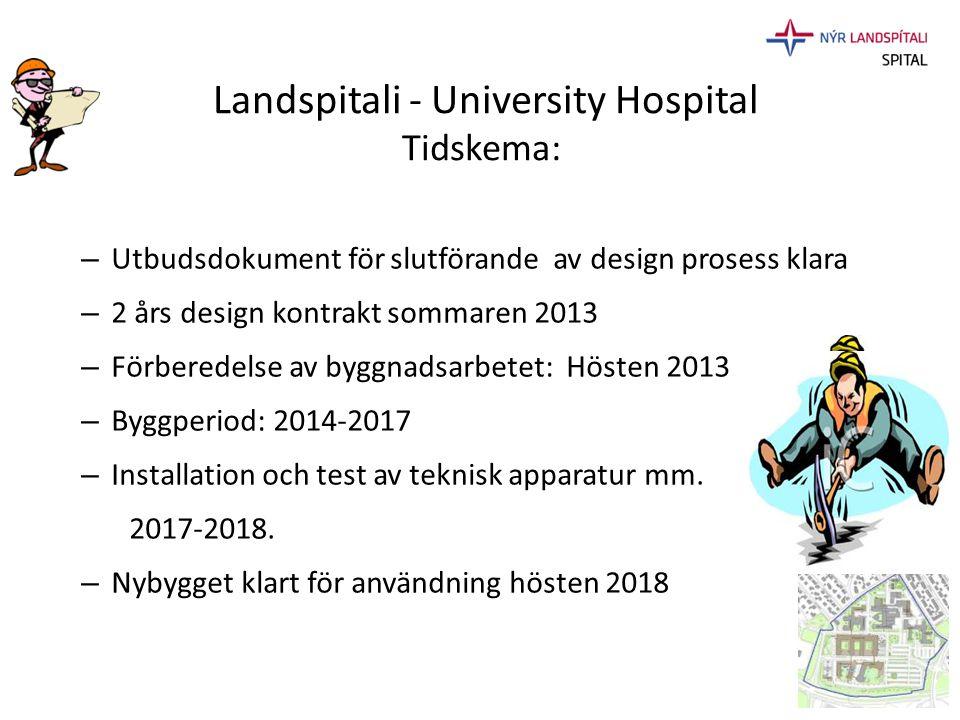 Landspitali - University Hospital Tidskema: