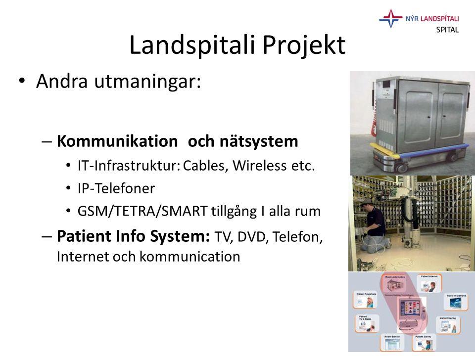 Landspitali Projekt Andra utmaningar: Kommunikation och nätsystem