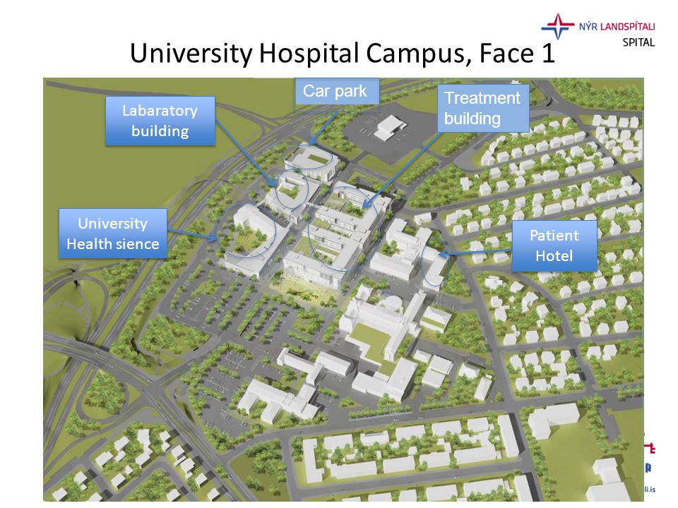 University Hospital Campus, Face 1