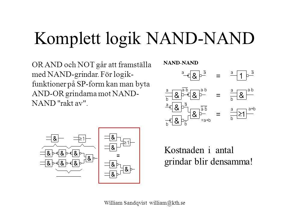 Komplett logik NAND-NAND