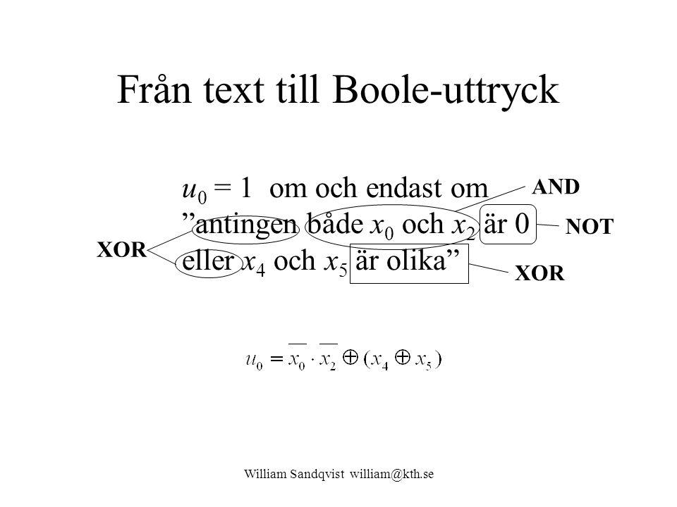 Från text till Boole-uttryck