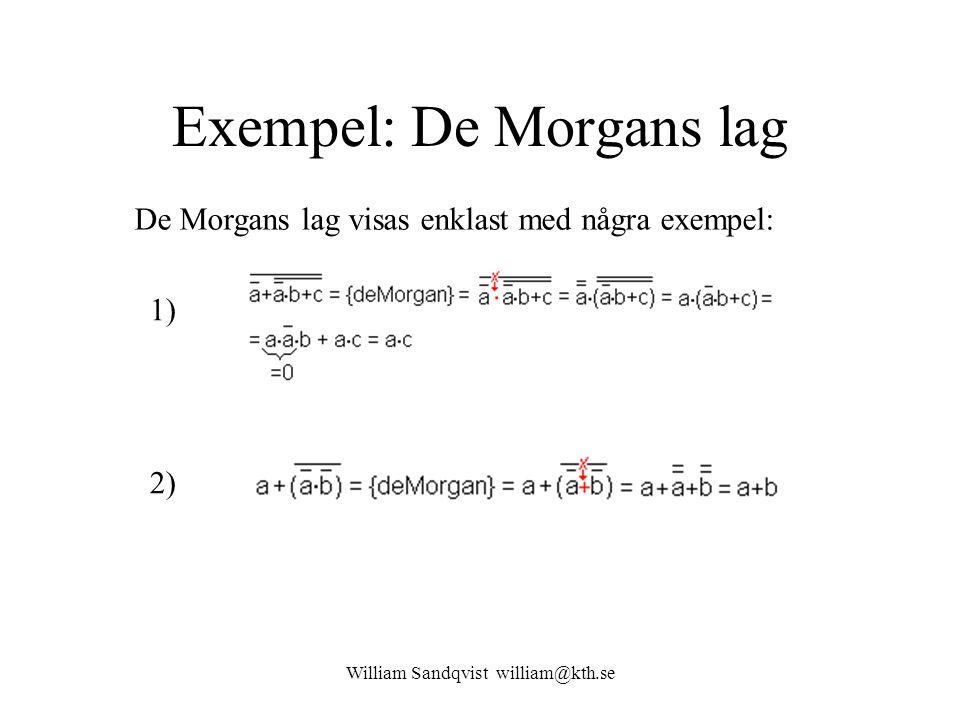 Exempel: De Morgans lag