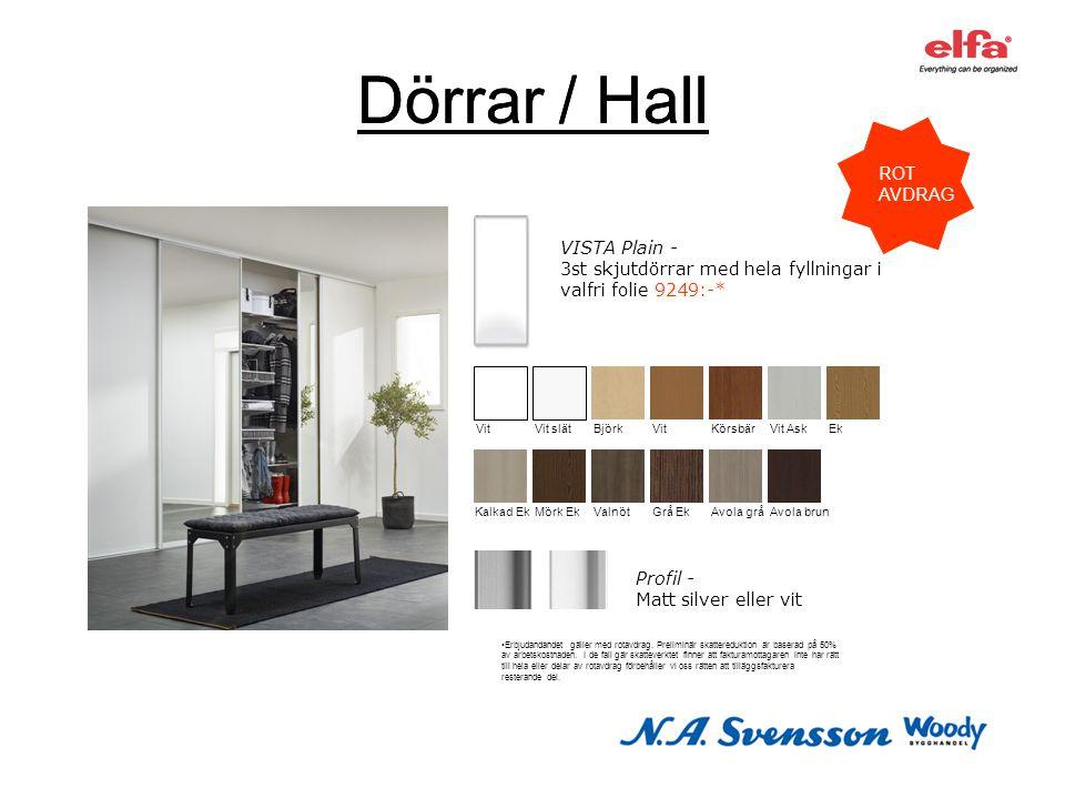 Dörrar / Hall Dörrar / Hall ROT AVDRAG