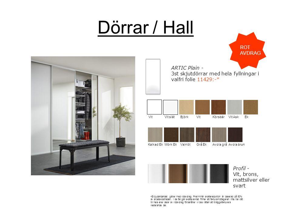 Dörrar / Hall ROT AVDRAG
