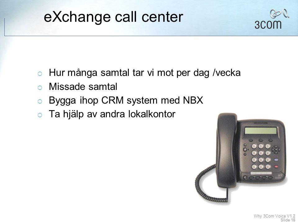 eXchange call center Hur många samtal tar vi mot per dag /vecka