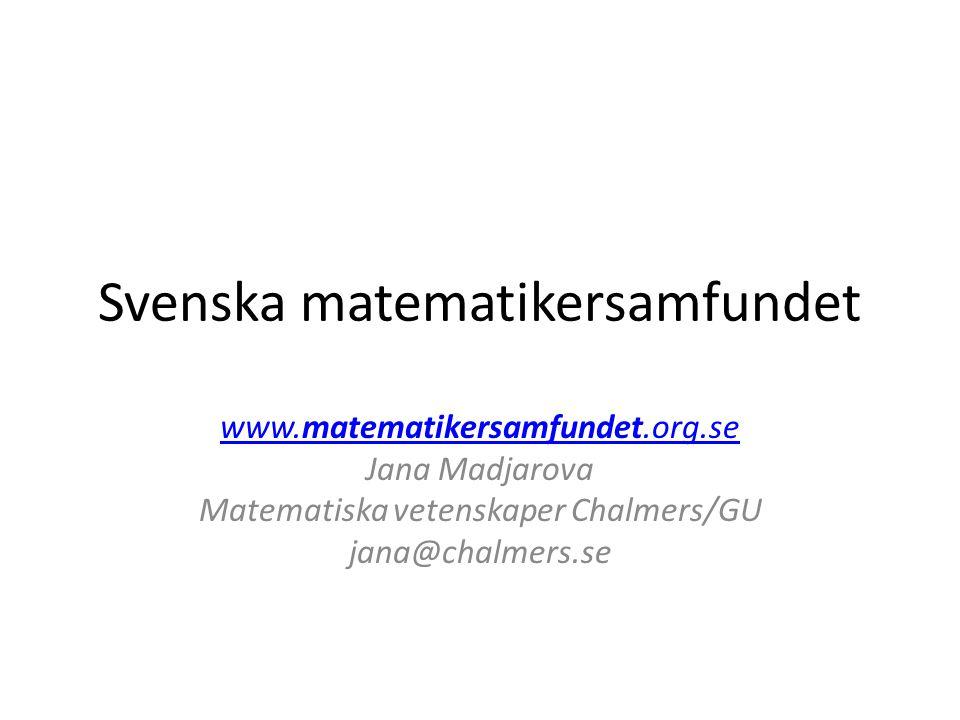 Svenska matematikersamfundet
