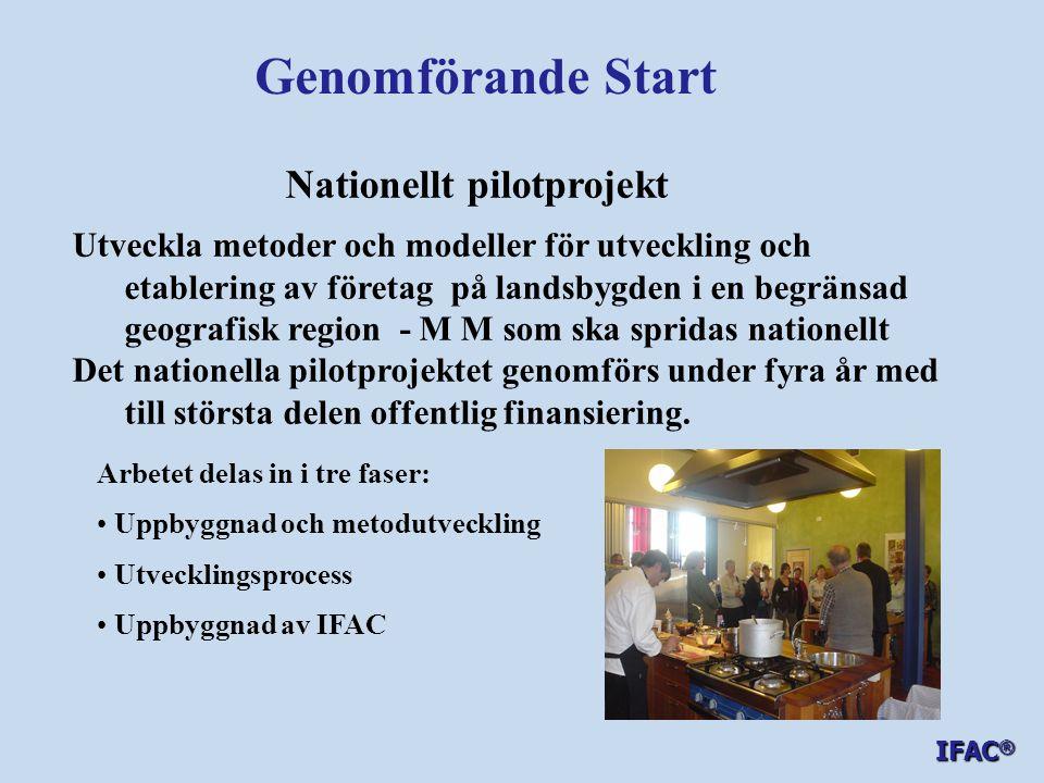Genomförande Start Nationellt pilotprojekt
