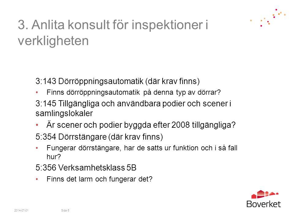 3. Anlita konsult för inspektioner i verkligheten