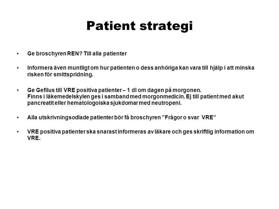 Patient strategi Ge broschyren REN Till alla patienter