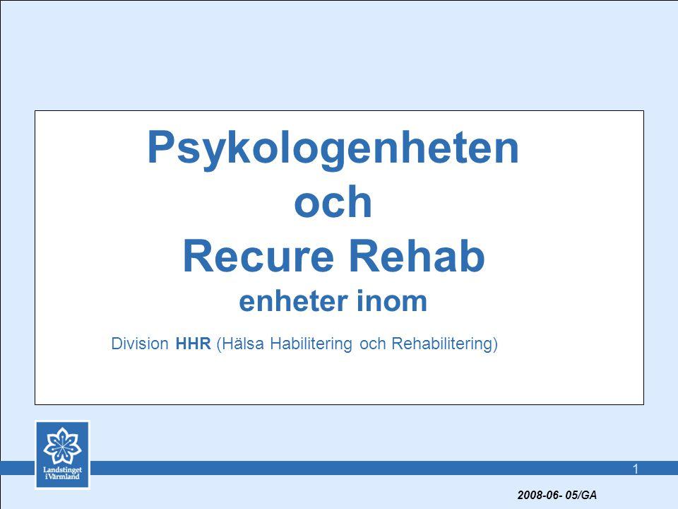Psykologenheten och Recure Rehab enheter inom
