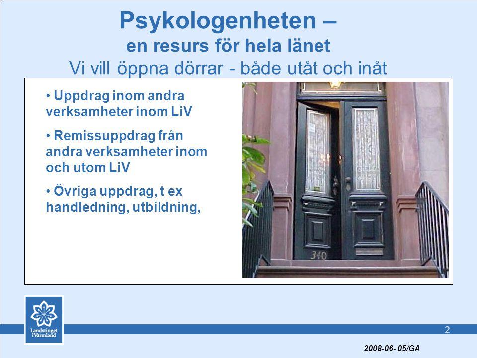 Psykologenheten – en resurs för hela länet Vi vill öppna dörrar - både utåt och inåt