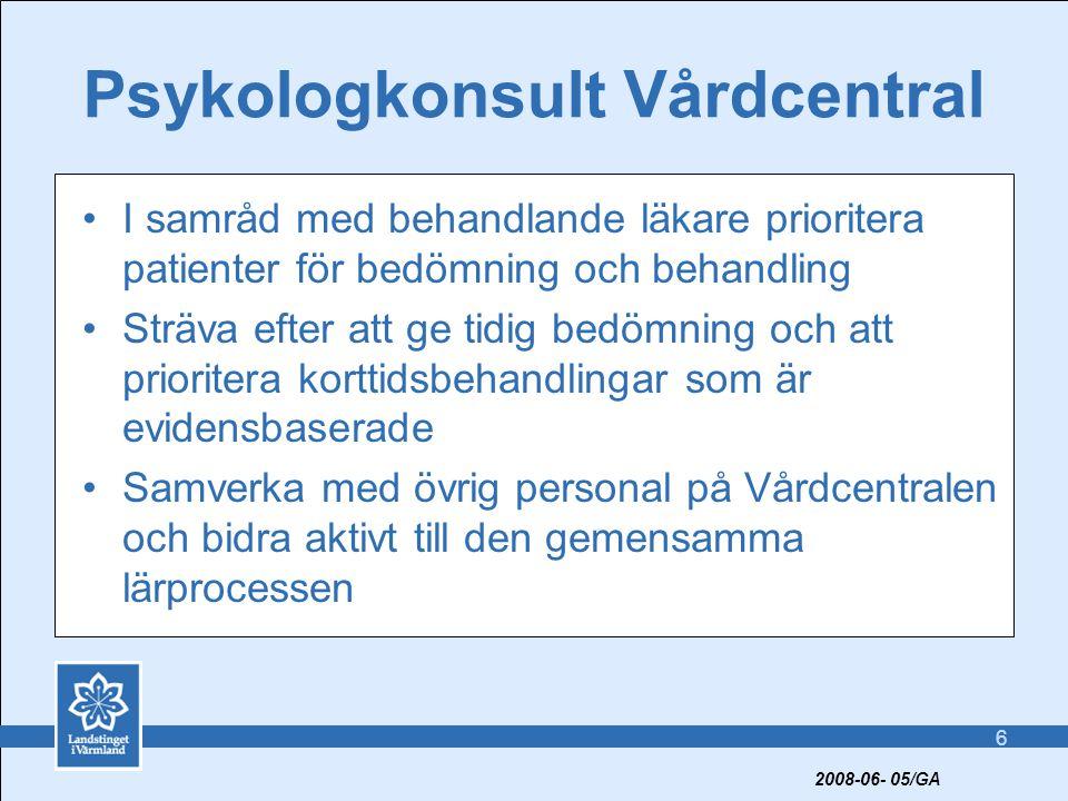 Psykologkonsult Vårdcentral