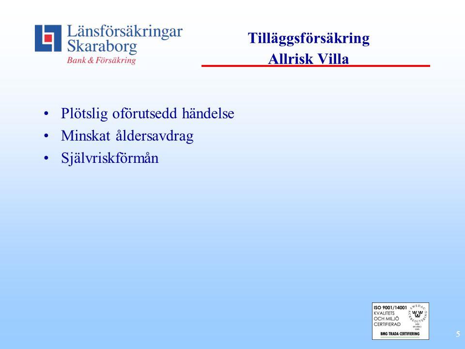 Tilläggsförsäkring Allrisk Villa