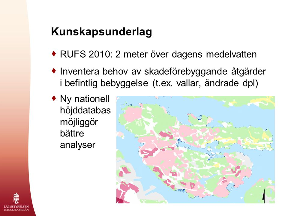 Kunskapsunderlag RUFS 2010: 2 meter över dagens medelvatten