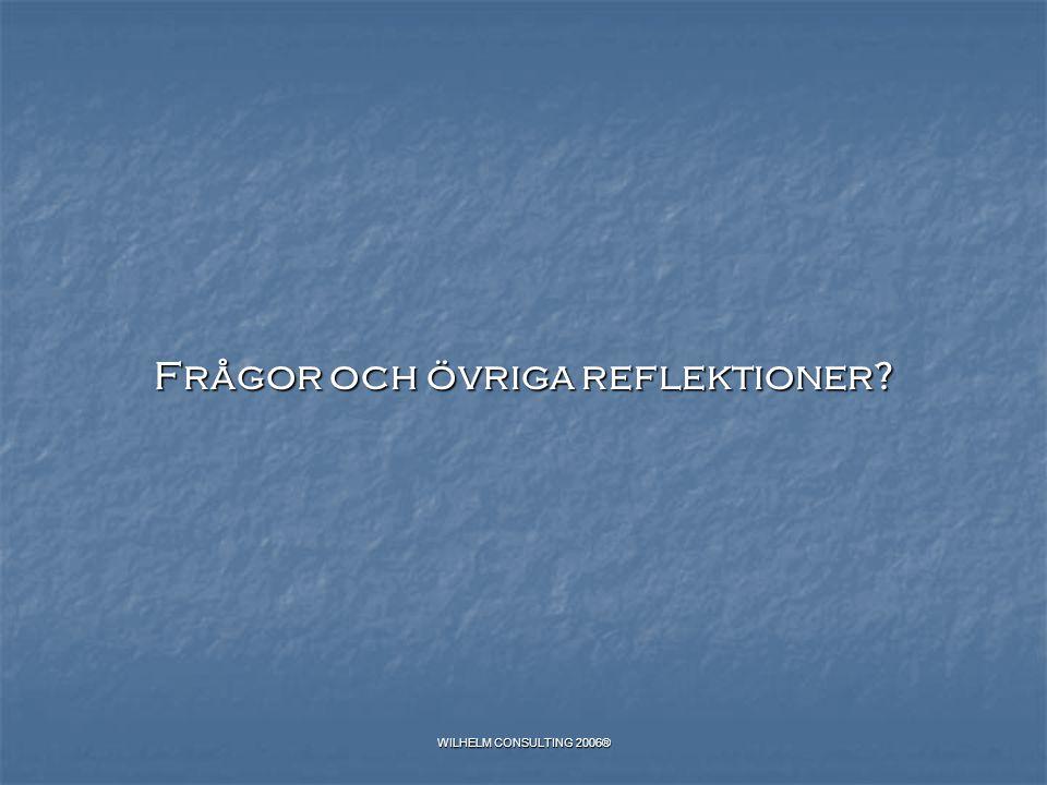 Frågor och övriga reflektioner