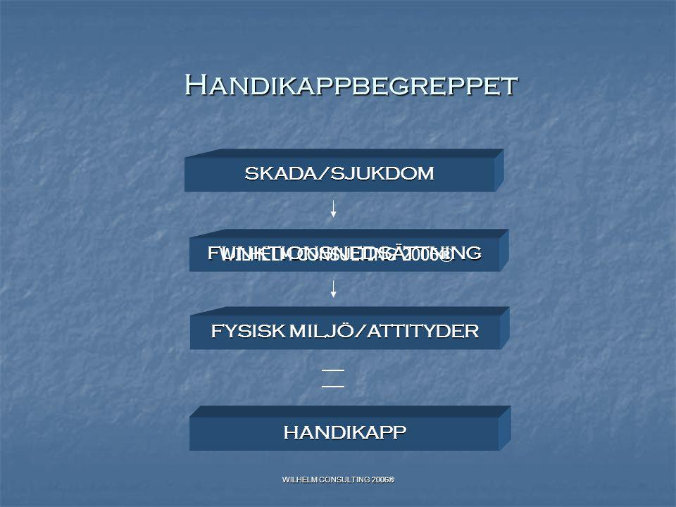 FUNKTIONSNEDSÄTTNING FYSISK MILJÖ/ATTITYDER