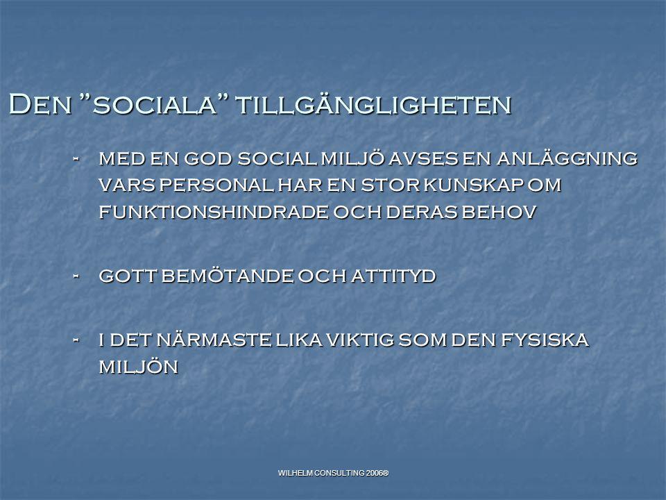 Den sociala tillgängligheten
