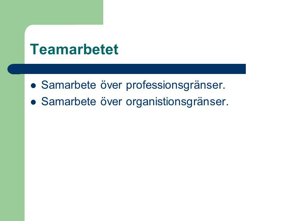 Teamarbetet Samarbete över professionsgränser.