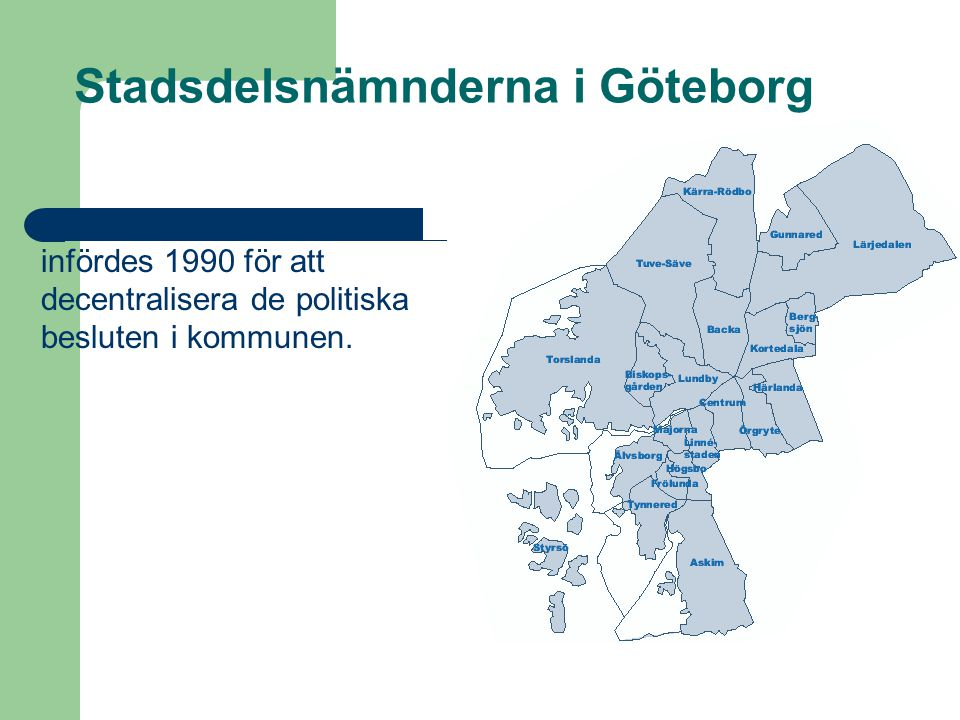 Stadsdelsnämnderna i Göteborg