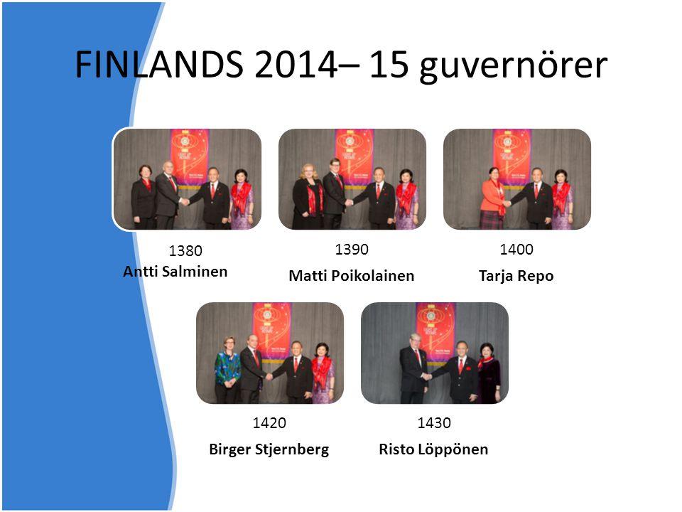 FINLANDS 2014– 15 guvernörer 1390 Matti Poikolainen 1400 Tarja Repo