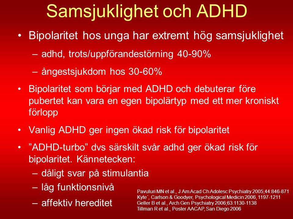 Samsjuklighet och ADHD