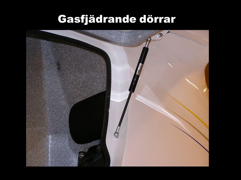 Gasfjädrande dörrar