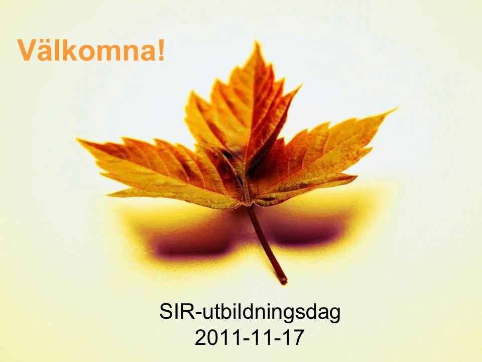 SIR-utbildningsdag 2011-11-17
