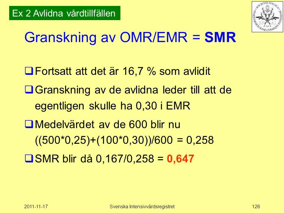Granskning av OMR/EMR = SMR