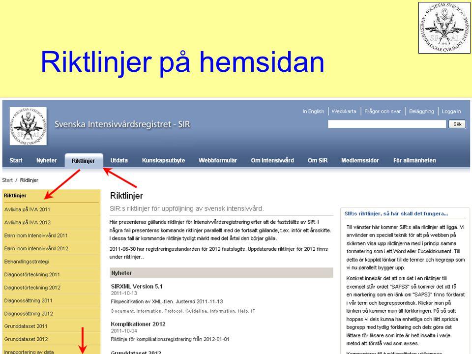 Riktlinjer på hemsidan
