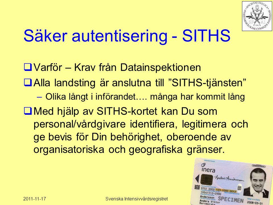 Säker autentisering - SITHS