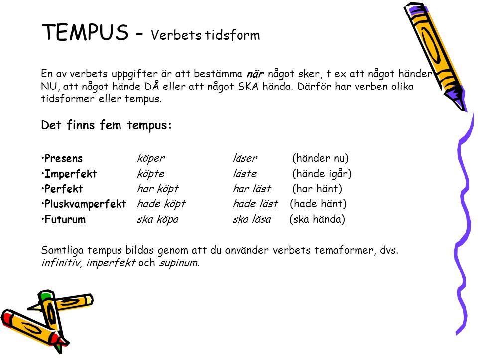 TEMPUS - Verbets tidsform