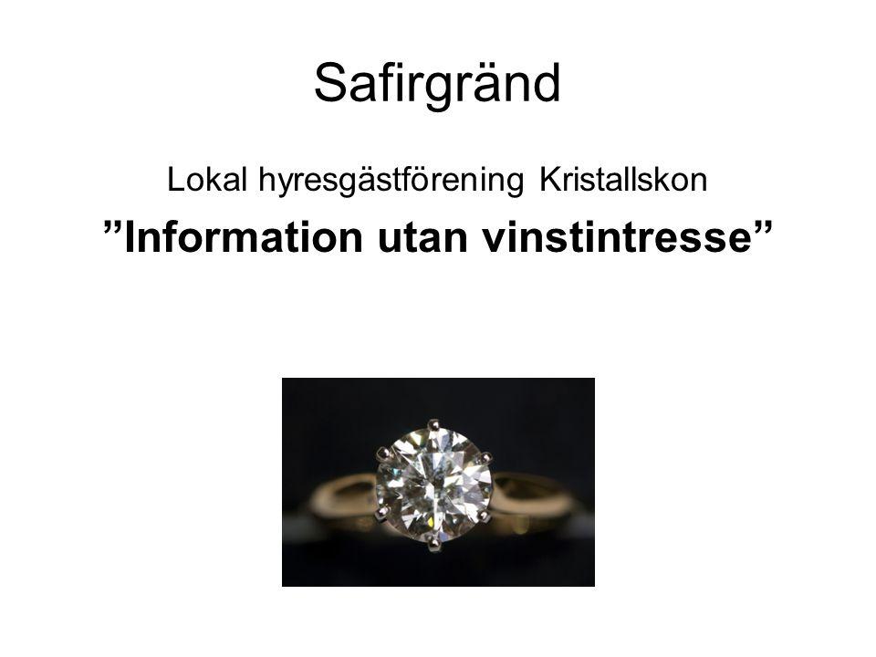Information utan vinstintresse