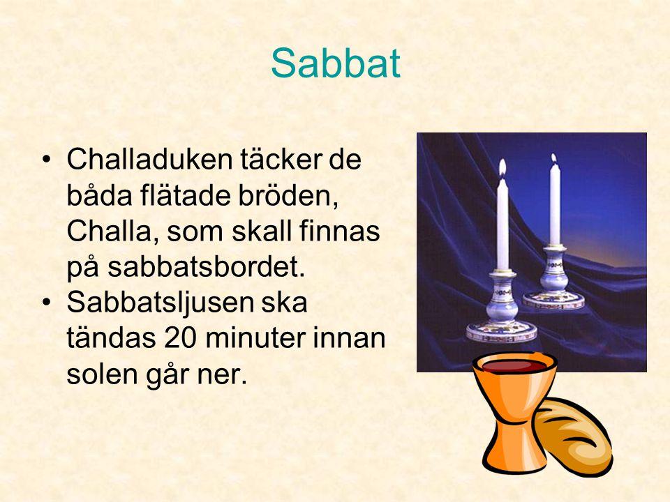 Sabbat Challaduken täcker de båda flätade bröden, Challa, som skall finnas på sabbatsbordet.