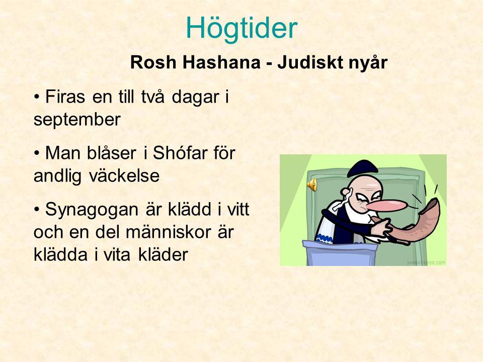 Rosh Hashana - Judiskt nyår