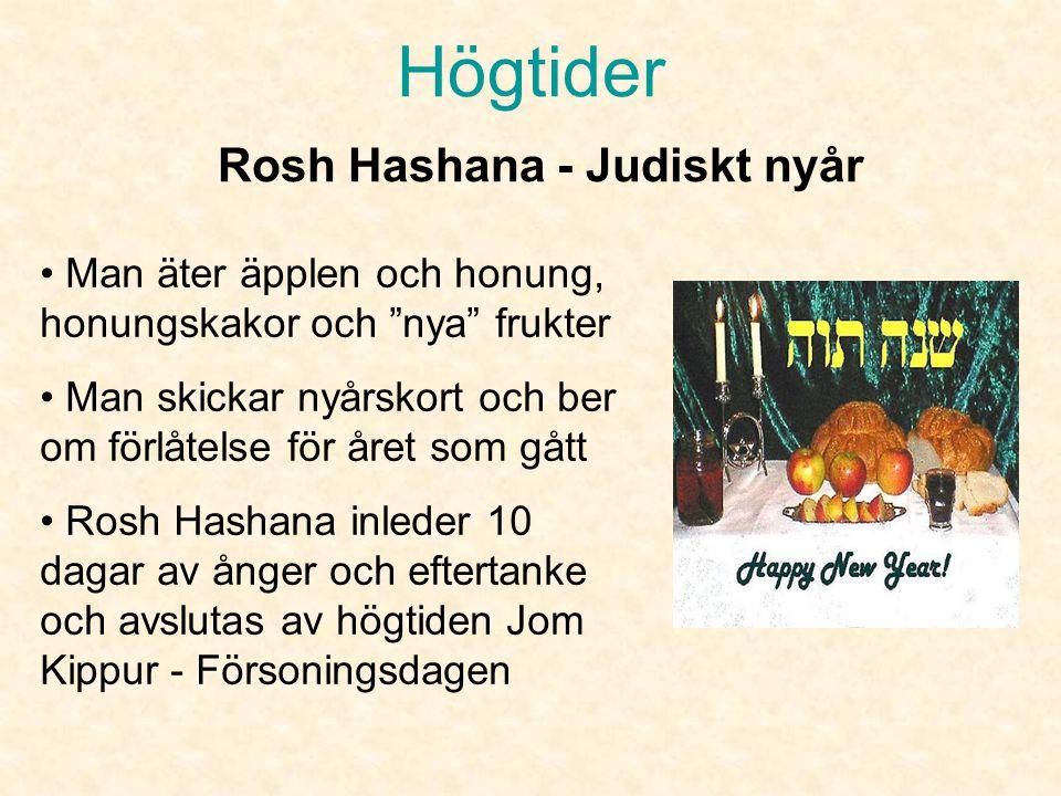 Högtider Rosh Hashana - Judiskt nyår