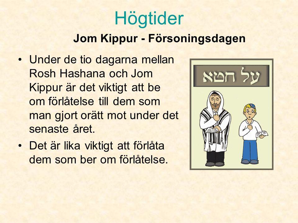Jom Kippur - Försoningsdagen