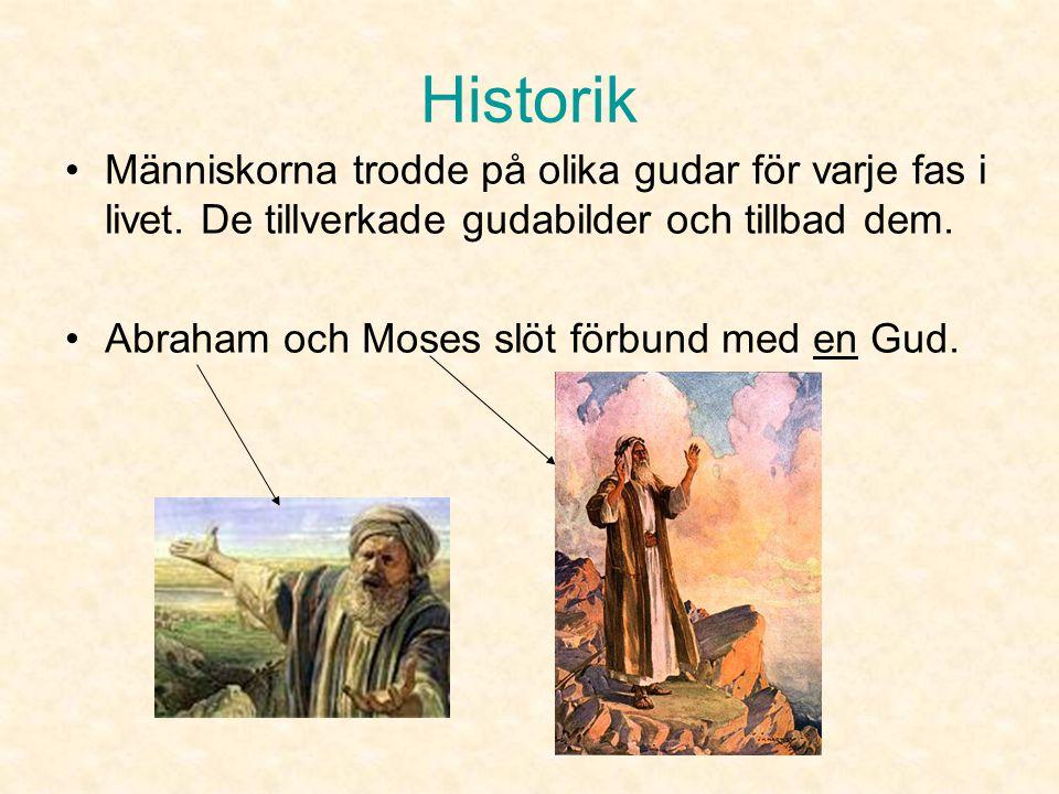 Historik Människorna trodde på olika gudar för varje fas i livet. De tillverkade gudabilder och tillbad dem.