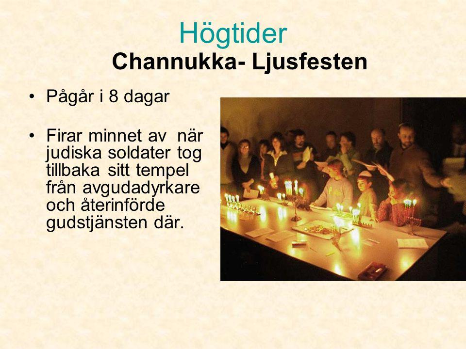Channukka- Ljusfesten