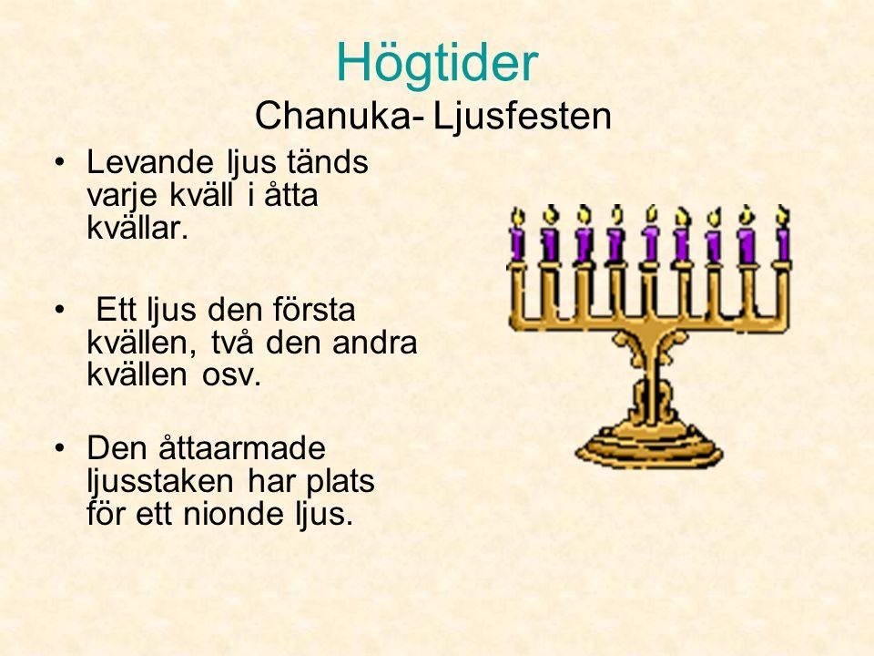 Högtider Chanuka- Ljusfesten