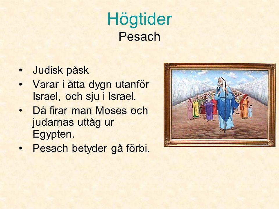 Högtider Pesach Judisk påsk